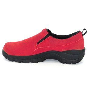 Lands' End Red Suede Walking Loafers